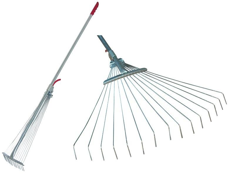 Mega Grabie druciane regulowane do trawy i liści 20-65cm (40090) 1