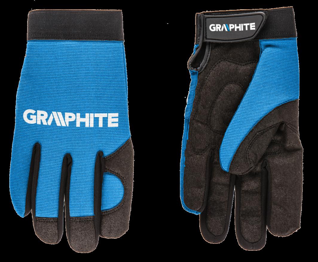 """Graphite Rękawice robocze 10"""" skóra syntetyczna + elastyczna tkanina CE (97G100) 1"""