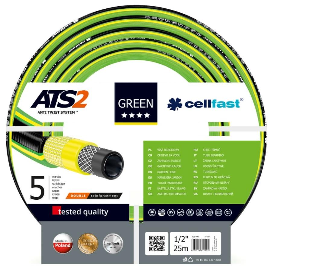 """Cellfast Wąż ogrodowy Green 1/2"""" 25m (15-100) 1"""