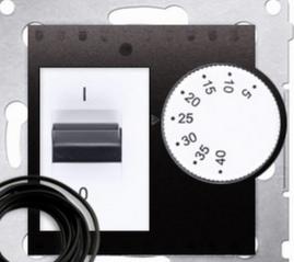 Kontakt-Simon Regulator temperatury 5-40°C IP20 antracyt - DRT10Z.02/48 1