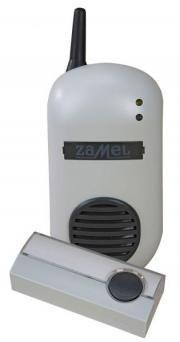 Zamel Dzwonek bezprzewodowy BULIK z przyciskiem hermetycznym 230V 85dB zasięg 100m - DRS-982K 1