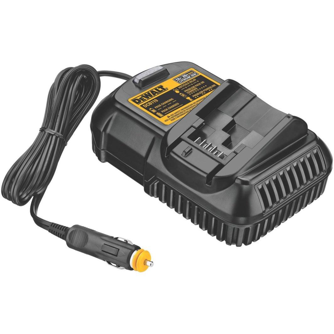 Dewalt Ładowarka samochodowa do akumulatorów XR 10,8V 14,4V 18,0V DCB119 1