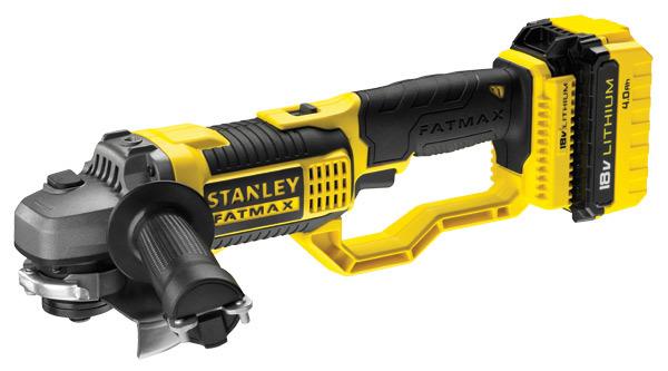 Stanley szlifierka kątowa FatMax 125mm 18V 8,500RPM 2x4,0Ah Li-Ion (FMC761M2) 1