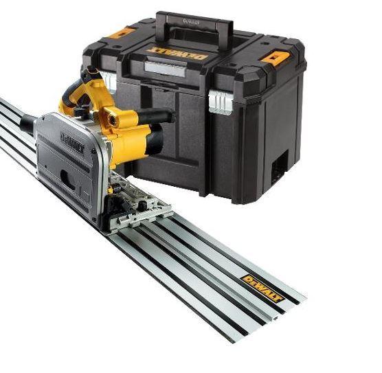 Dewalt Zagłębiarka 165mm+ szyna 1,5m DWS5022 + kufer TSTAK (DWS520KTR) 1
