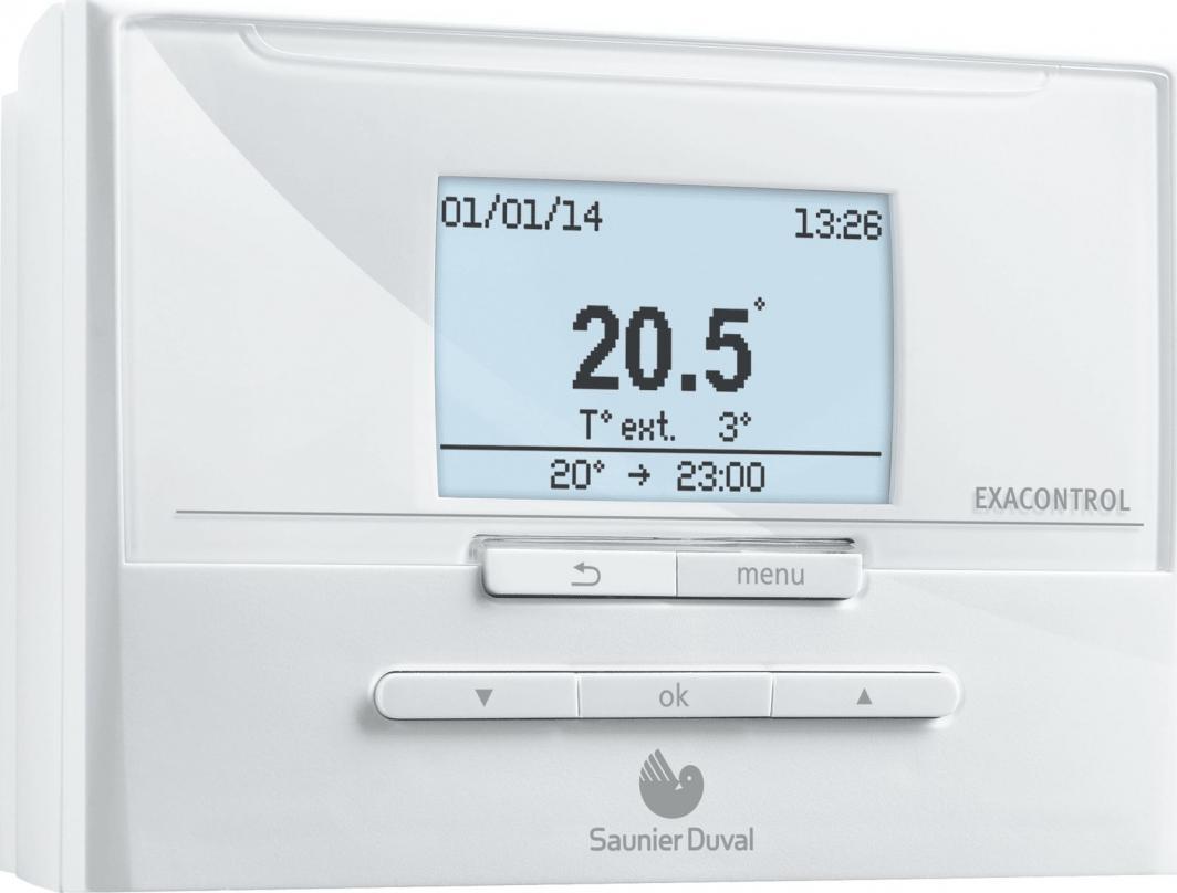 Saunier Duval Regulator temperatury z programatorem tygodniowym Exaco Ntrol E7 (S0020118088) 1
