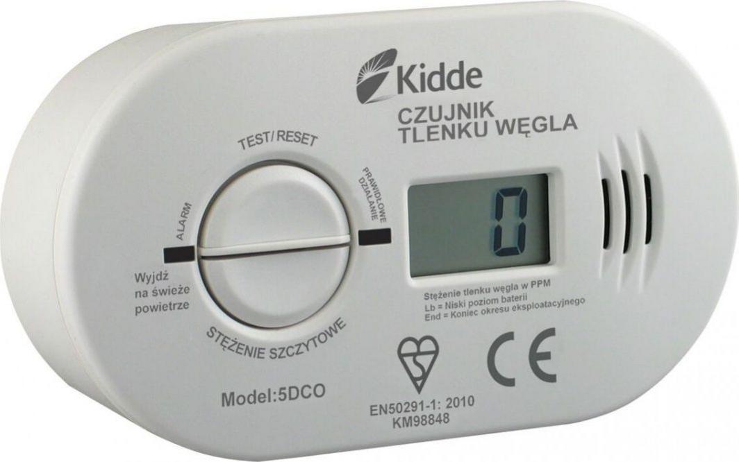 Kidde Czujnik 5DCO czadu z wyświetlaczem LCD + baterie (5DCO) 1