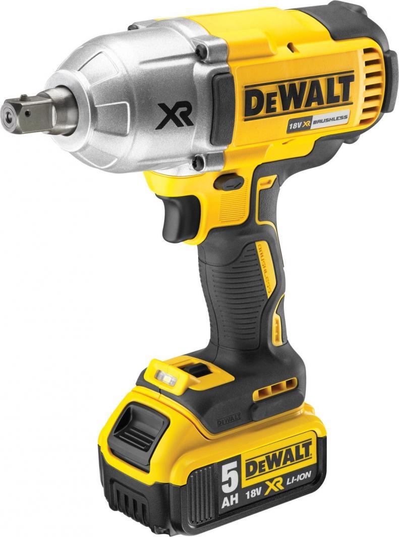 """Dewalt Klucz udarowy akumulatorowy 1/2"""" 18V 2x5Ah Li-Ion 950Nm (DCF899P2) 1"""