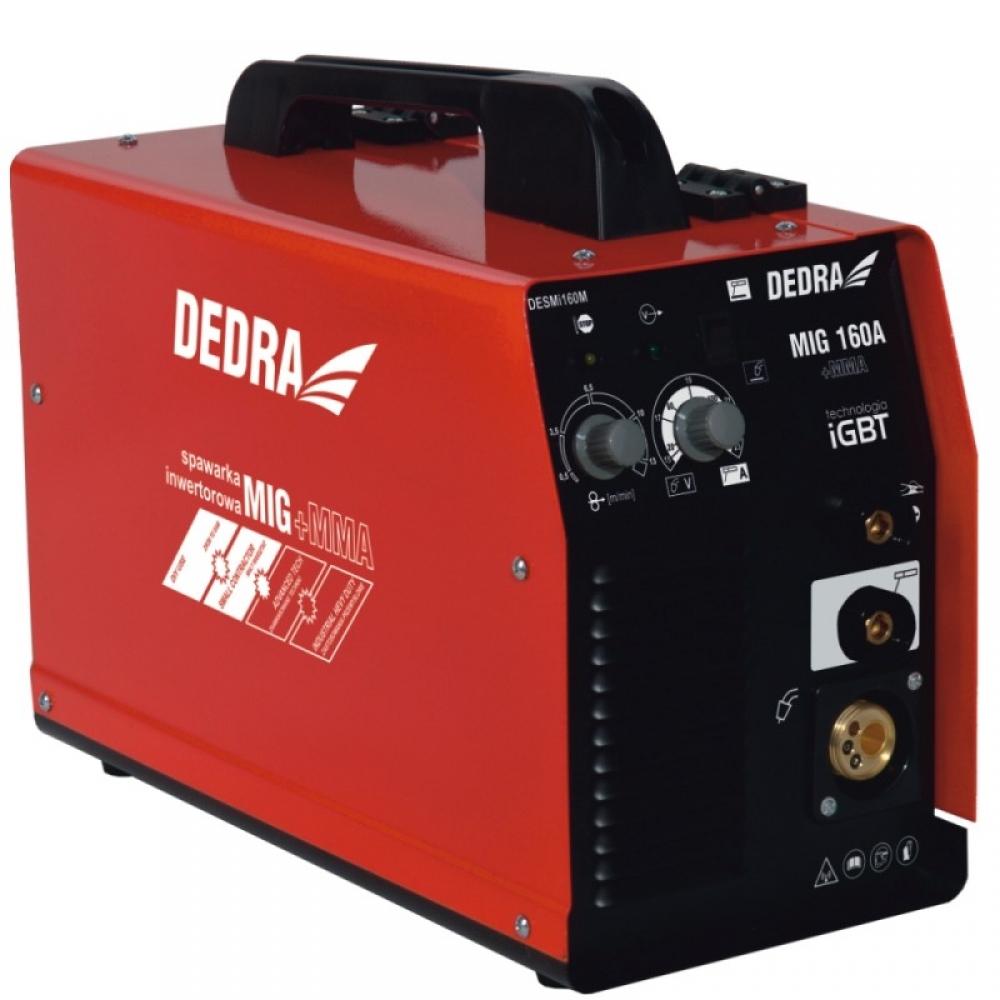Dedra Spawarka inwertorowa MIG/MAG IGBT 160A plus funkcja MMA podajnik - DESMi160M 1