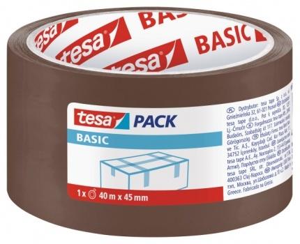 Tesa Taśma pakowa BASIC brązowa 40m 45mm (H5857500) 1