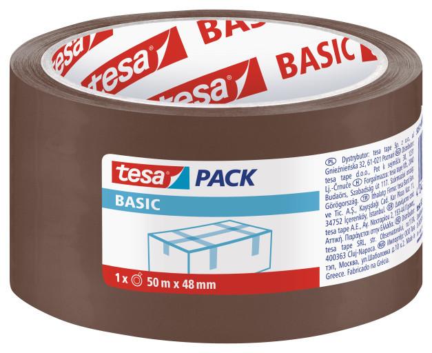 Tesa Taśma pakowa BASIC brązowa 50m 48mm H5857300 1