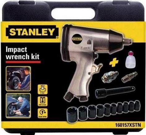 """Stanley Klucz pneumatyczny 1/2"""" + 10 nasadek (160157XSTN) 1"""