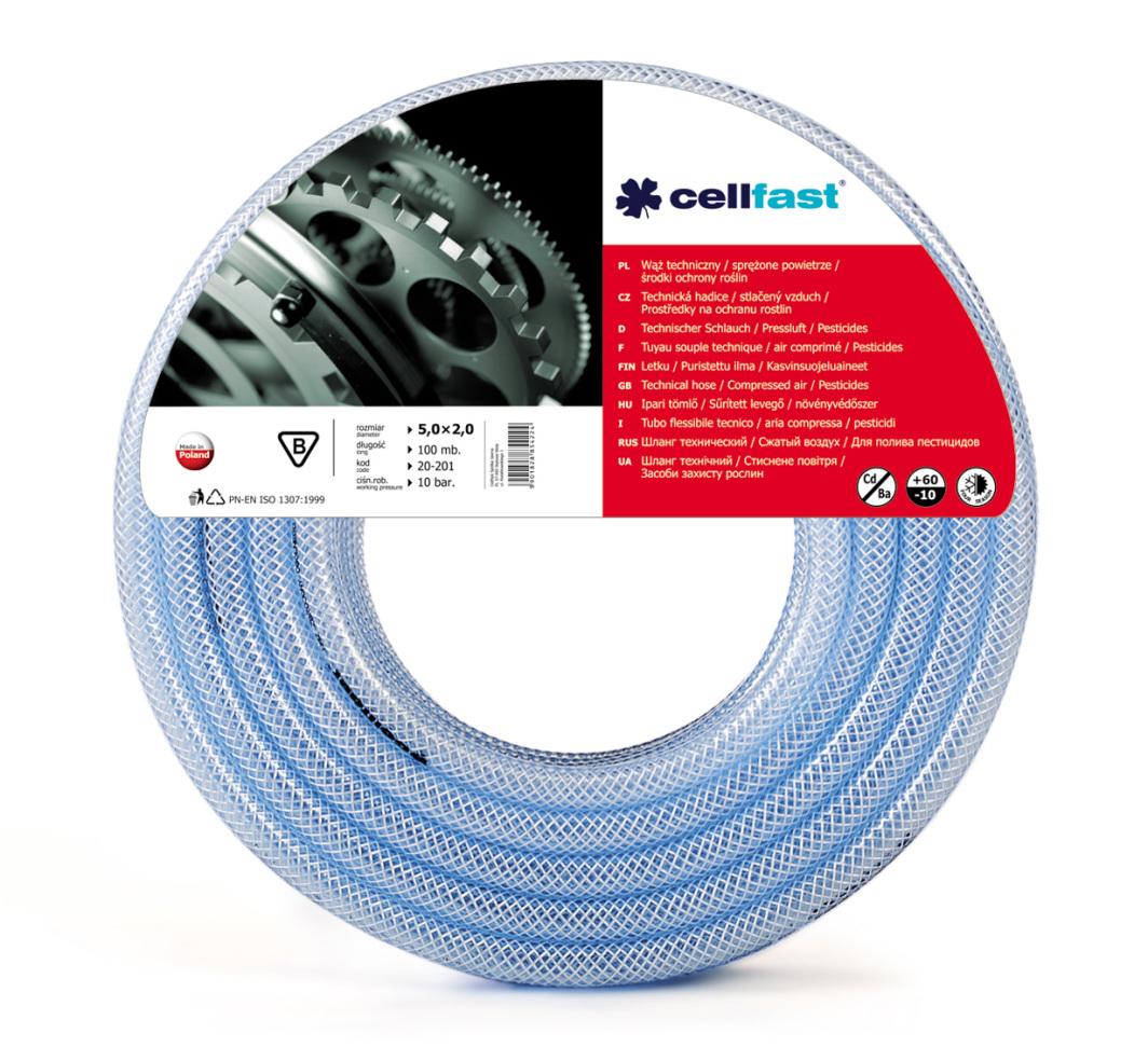 Cellfast Wąż techniczny 16x3mm środki ochrony roślin/ sprężone powietrze 50m - 20-207 1
