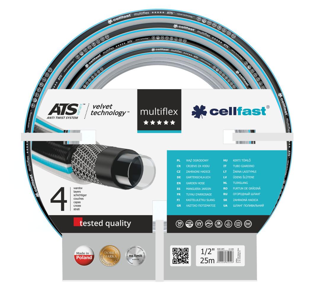 """Cellfast Wąż ogrodowy MultiFlex 1/2"""" 25m (13-200) 1"""