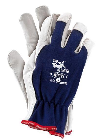 Reis Rękawice ochronne RLToper GW wykonane z wysokiej jakości skóry koziej rozmiar 9 (RLTOPER GW 9) 1