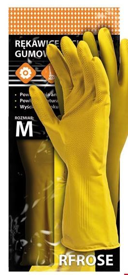 Reis Rękawice ochronne gumowe flokowane rozmiar M - RFROSE Y M 1