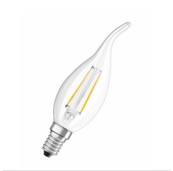 Osram Żarówka LED RETROFIT CLASSIC BA 23 2 W/827 E14 FIL RFCLBA25 2W/827 1