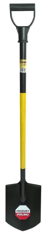 Grot Szpadel ostry z trzonkiem metalowym 195x275mm (200-0451) 1