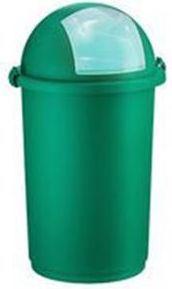 Kosz na śmieci Push uchylny 50L zielony (POJ PU ZIE) 1