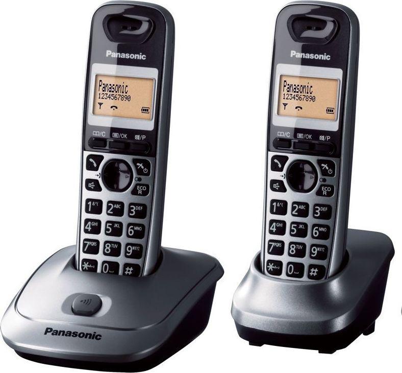 Telefon stacjonarny Panasonic KX-TG2512PDM Czarno-srebrny  1