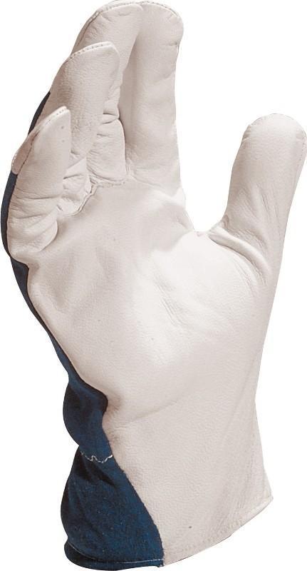 Delta Plus Rękawice CT402BL skóra licowa + drelich rozmiar 10 (CT402BL10) 1