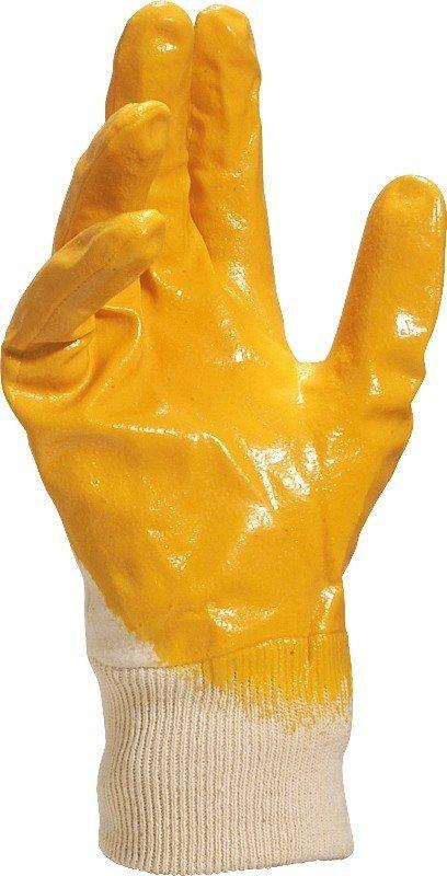 DELTA PLUS Rękawice NIO15 niktryl 10 biało-żółte NI01510 1
