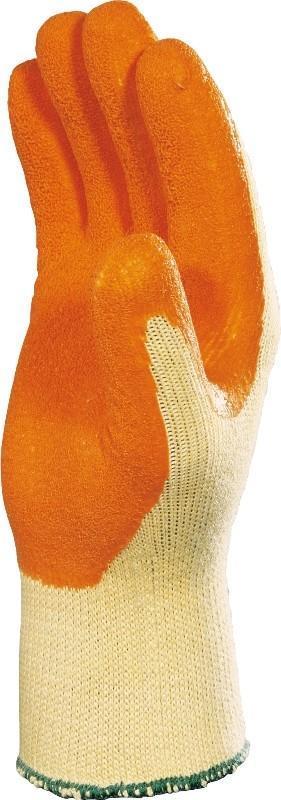 DELTA PLUS Rękawice VE730 lateks pomarańczowe rozmiar 9 VE730OR09 1