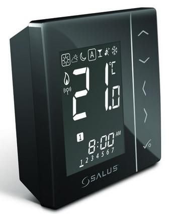 Salus Regulator temperatury 4w1 cyfrowy bezprzwodowy natnkowy czarny - VS20BRF 1