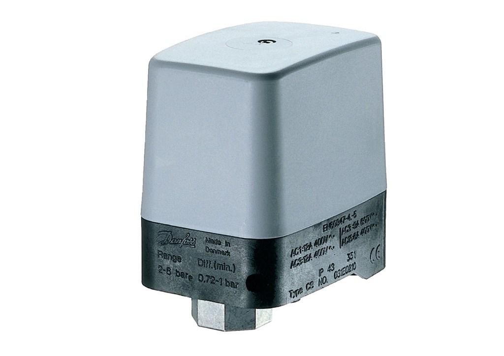 """Danfoss Wyłącznik ciśnieniowy TYP CS 2-6 BAR 12A 1/2"""" (031E021066) 1"""