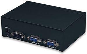 Manhattan splitter video VGA 1/2 350 MHz Pro czarny (207331) 1