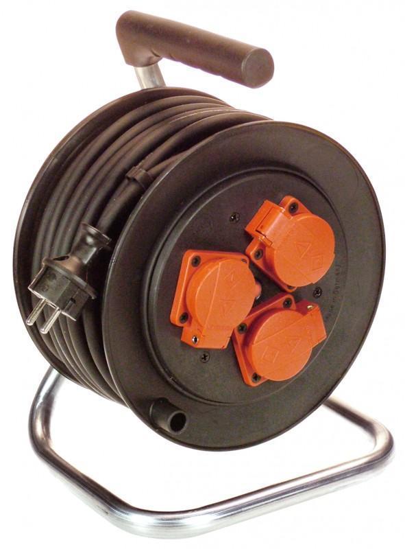 AS Schwabe Przedłużacz bębnowy 3-gniazdowy IP44 25m 1