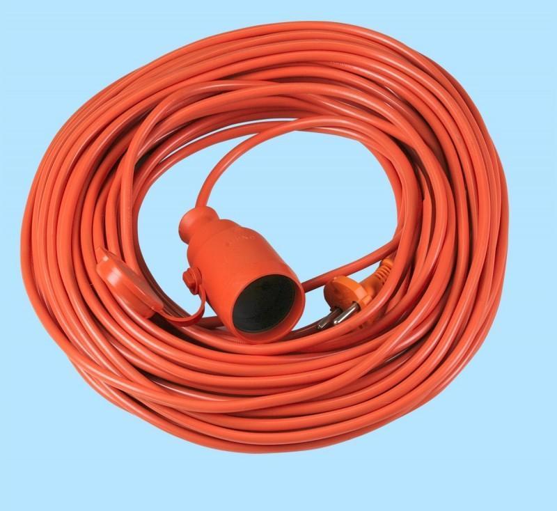 Abex Przedłużacz ogrodowy jednogniazdowy 2p 10A 30m H05VV-F 2x1mm2 PO-ST/30M/2X1 1