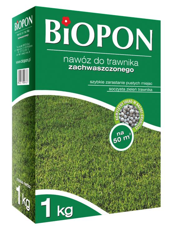 Biopon Nawóz granulowany do traw zachwaszczonych 1kg (1131) 1