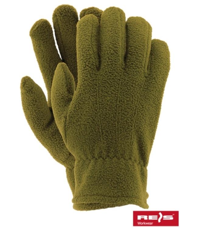 Reis Rękawice polarowe oliwka 10 (RPOLAREXO10) 1
