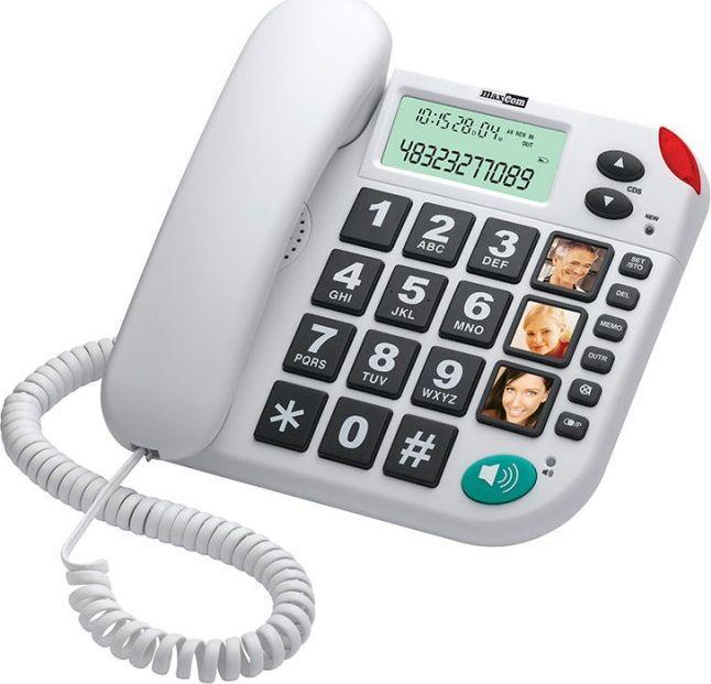 Telefon stacjonarny Maxcom KXT 480 Biały  1