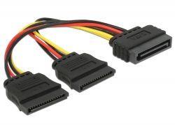 Delock SATA 15-pin - SATA 15-pin x2, 0.15m, Wielokolorowy (60105) 1