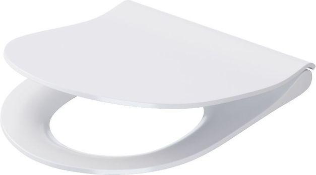 Deska sedesowa Cersanit City Oval Slim wolnoopadająca biała (K98-0146) 1