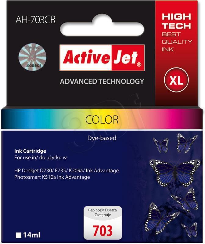 Activejet tusz AH-703CR / CD888AE nr 703C (color) 1