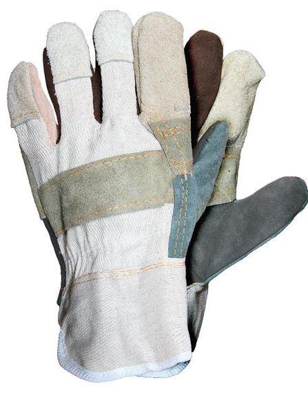 Reis Rękawice ochronne wzmacniane różnokolorową skórą bydlęcą 10 (RBK MC 10) 1