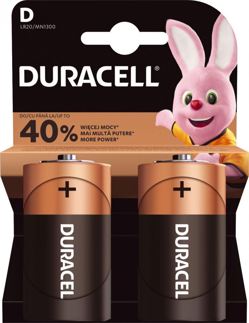 Duracell Bateria Basic D / R20 2szt. 1