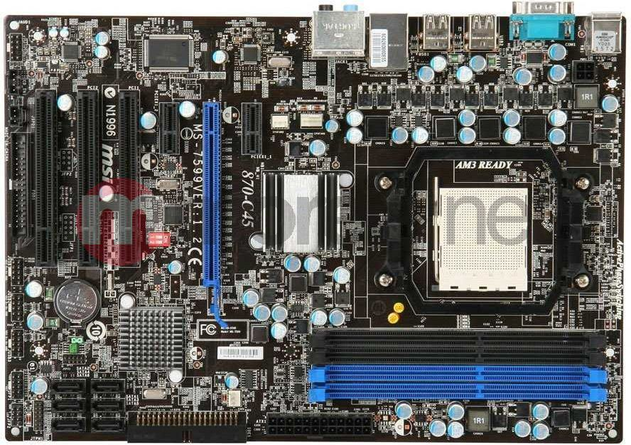 Płyta główna MSI 870-C45 (AM3 AMD870 4DDR3 8CH/GLAN ATX) BOX 1