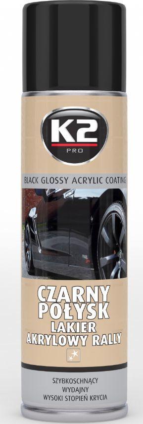 K2 Sport Lakier akrylowy czarny połysk 500mL (L341) 1