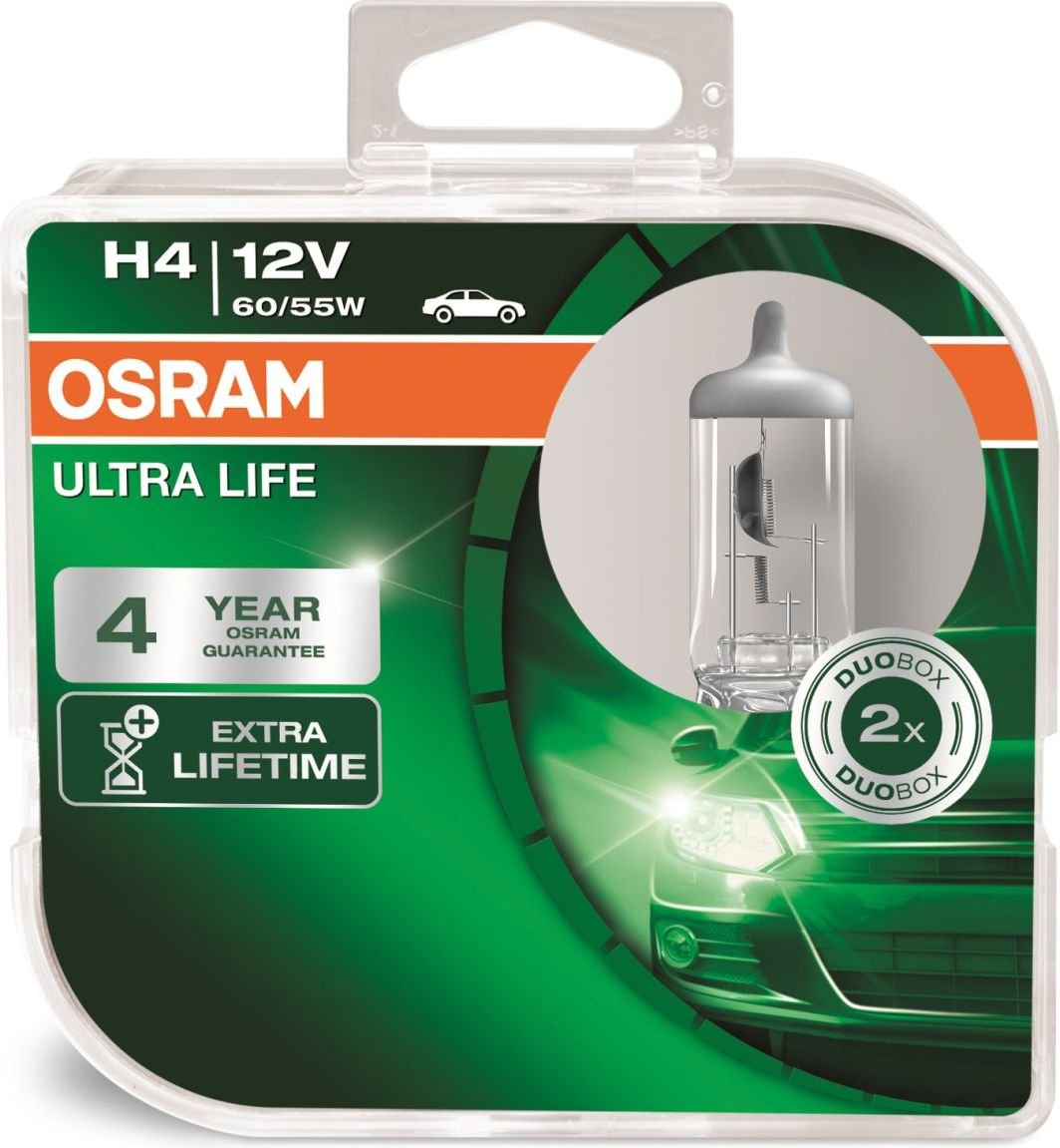 Osram Żarówka samochodowa Ultra Life H4 60/55W 2szt. (4052899425224) 1