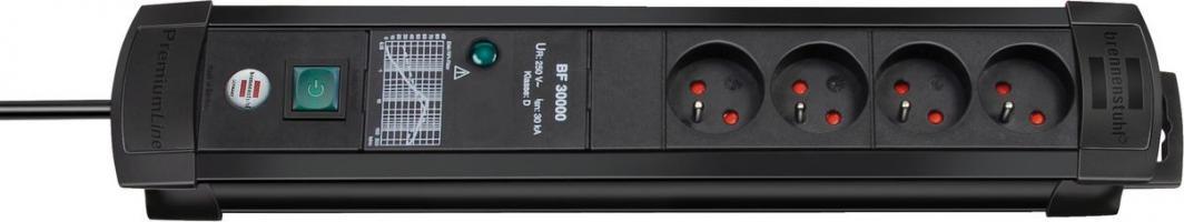 Listwa zasilająca Brennenstuhl Premium-Line przeciwprzepięciowa 4 gniazd 3 m czarny (1156004824) 1