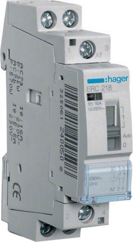 Hager Polo Przekaźnik instalacyjny 16A 230V AC 1NO+1NC (ERC218) 1