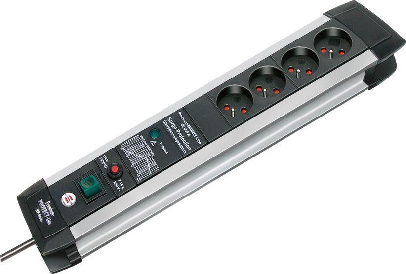 Listwa zasilająca Brennenstuhl Premium-Protect-Line przeciwprzepięciowa 4 gniazd 3m srebrny (1391004604) 1