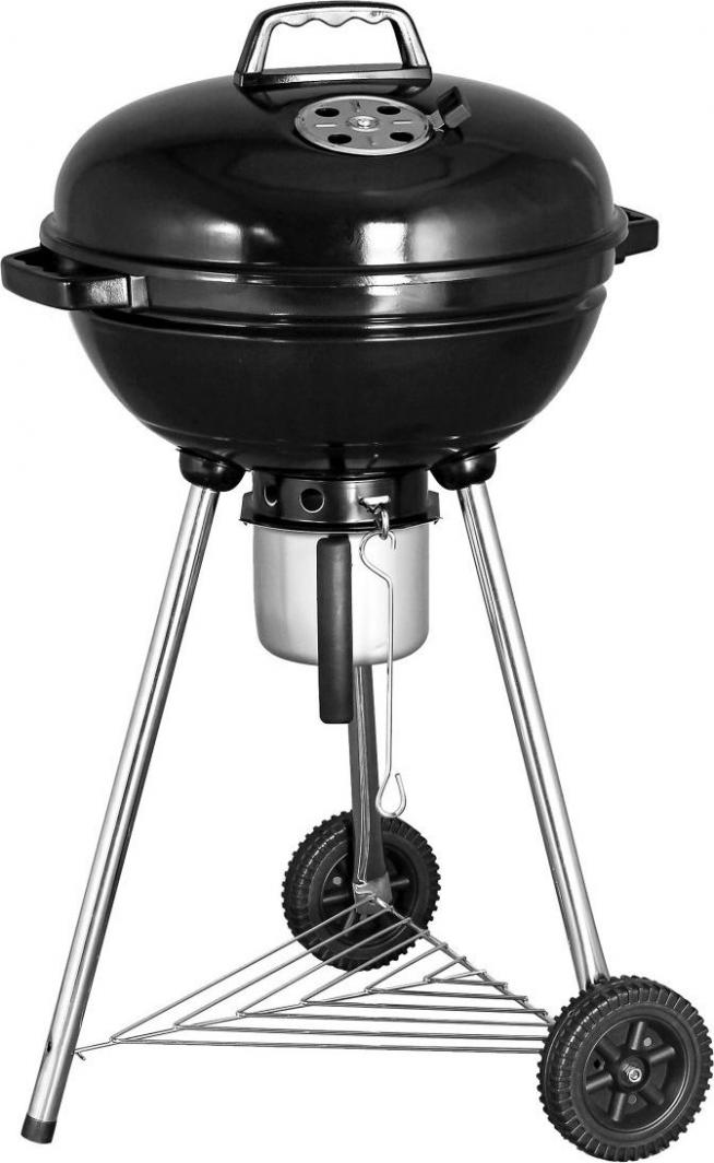 Grill węglowy kulisty z pokrywą i popielnikiem 46cm (W-992285) 1