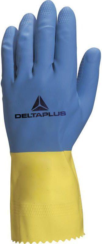 DELTA PLUS Rękawice gospodarcza lateksowa zółto-niebieska 9/10 (VE330BJ09) 1