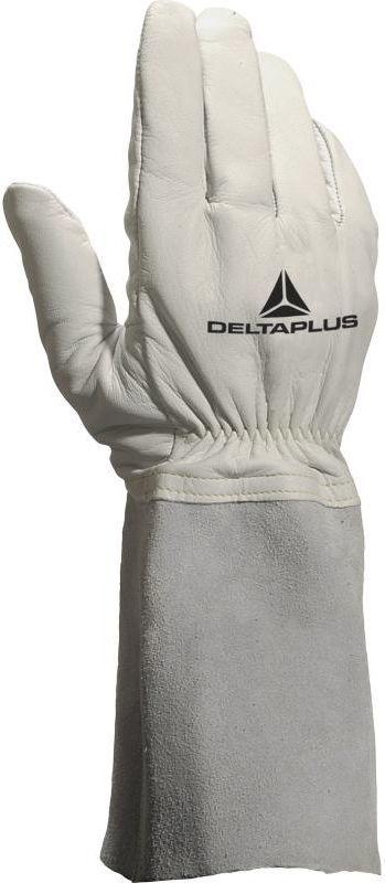 DELTA PLUS Rękawice spawalnicze ze skóry licowej koziej mankiet 15cm rozmiar 10 (TIG15K10) 1