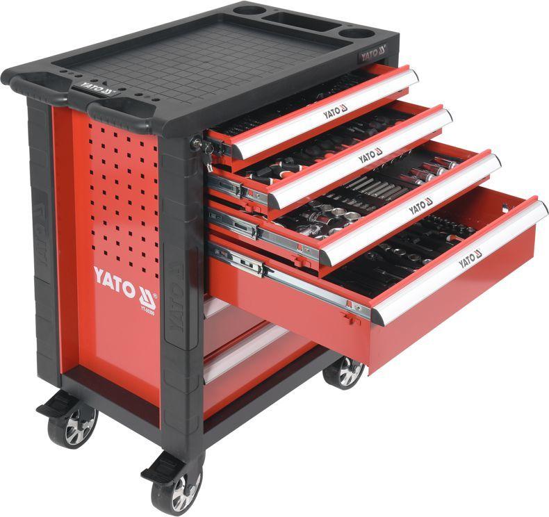 Wózek narzędziowy Yato 6 szuflad z wyposażeniem 177szt. (YT-55300) 1