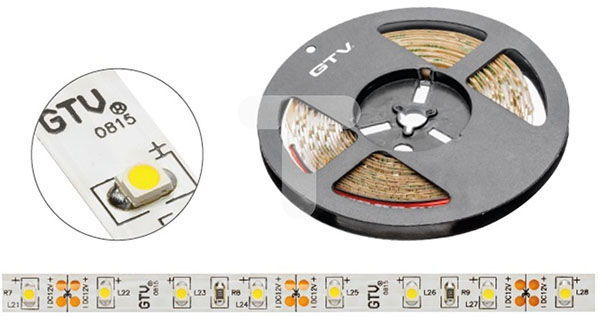 Taśma LED GTV SMD3528 5m 60szt./m 4.8W/m 12V  (LD-3528-300-20-ZB-50) 1